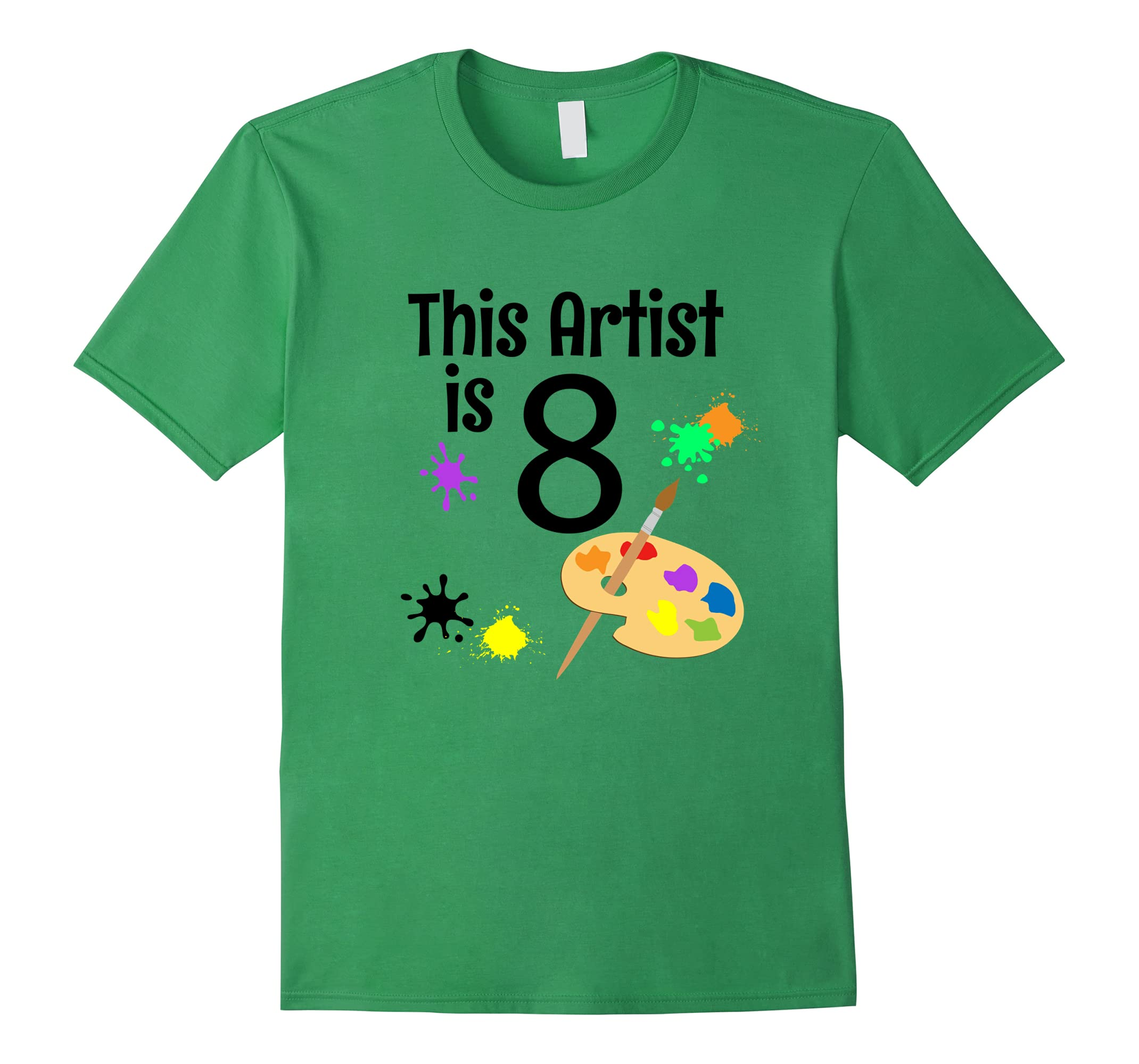 8 Year Old Art Painting Birthday Party 8th Shirt Teechatpro