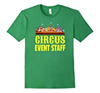 Circus Event Staff T-shirt   Carnival Birthday Party Shirt Forest Green