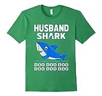Husband Shark Doo Doo Shirt For Matching Family Pajamas Forest Green