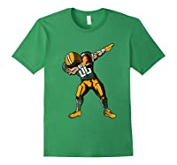 Football Dabbing T Shirt Funny Green Yellow Forest Green