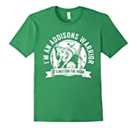 Addisons Hooded Warrior T-shirt- Addisons Disease Awareness Forest Green