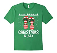 Christmas In July Santa Flip Flop Summer Xmas Gift Shirts Forest Green
