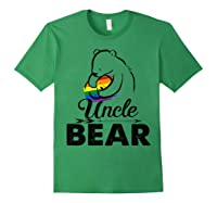 Uncle Bear Lgbt Rainbow Pride Gay Lesbian Gifts Shirts Forest Green