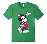 Disney Hello Holiday Mickey T Shirt Forest Green
