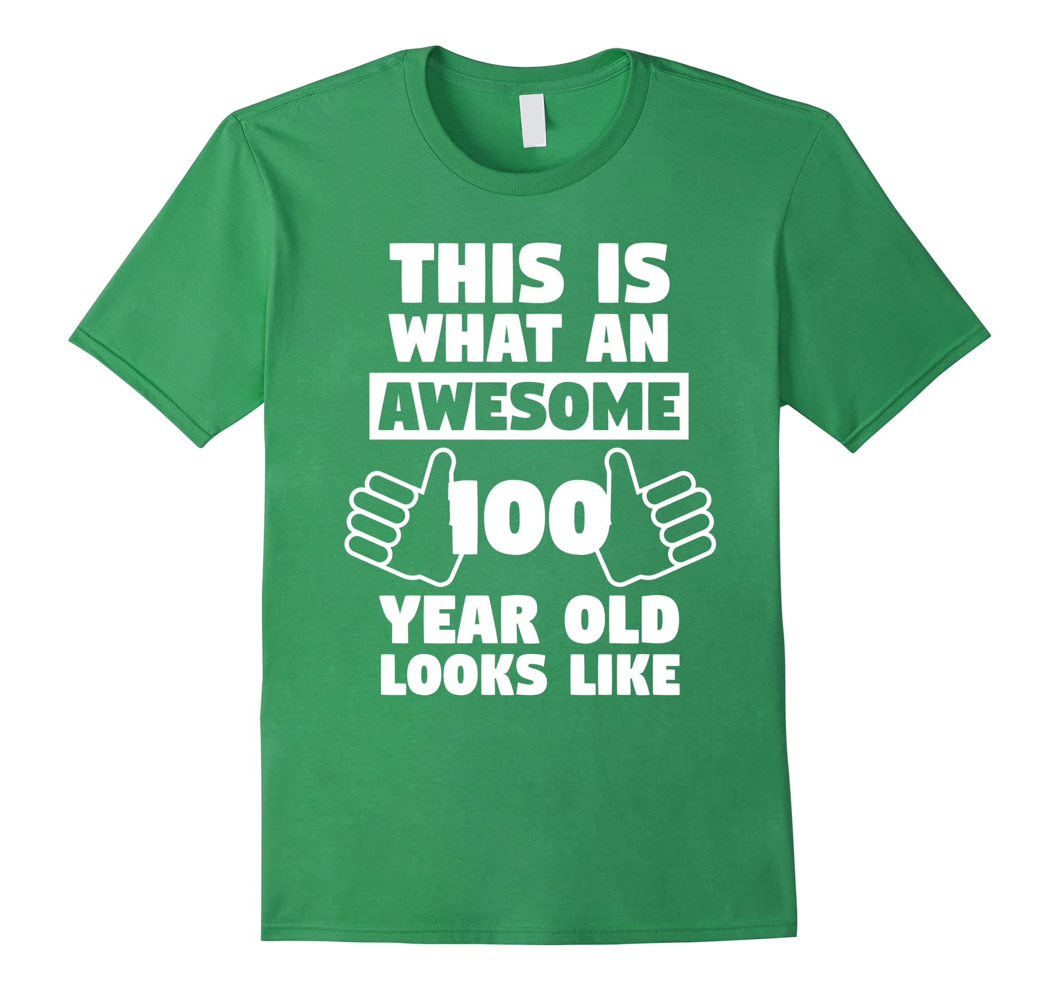 Awesome 100 Year Old Birthday Gift Fun 100th Shirt Ah My One