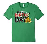 Disney Pluto My Birthday T Shirt Forest Green