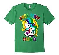 Free Mom Hugs Lgbt Gay Pride T-shirt Forest Green