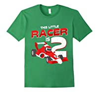 Race Car 2nd Birthday I This Little Racer Is 2 Years Old Shirts Forest Green