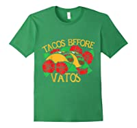 Tacos Before Vatos Artistic Taco Tuesday Shirts Forest Green