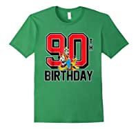 Disney Birthday Group 90th T Shirt Forest Green