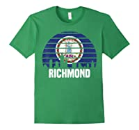 Richmond Virginia T Shirt Va Group City Trip Silhouette Flag Forest Green