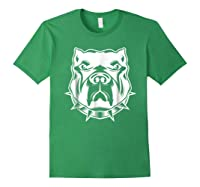 Pit Bull Face T For Pitbull And Apbt Lovers Shirts Forest Green