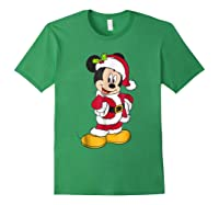 Disney Santa Mickey Mouse Holiday T-shirt Forest Green