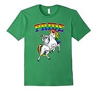 Koala Bear Unicorn Gay Pride Rainbow Q Cute Gift Shirts Forest Green