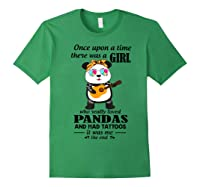 Once Upon A Time There Was A Girl Pandas And Tattoos Shirt Forest Green