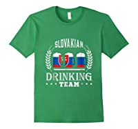Beer Slovenian Drinking Team Casual Slovakia Flag T-shirt Forest Green