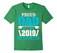 Star Proud Dad Of Two 2019 Graduates Happy Day Senior Shirt Forest Green
