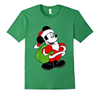 Disney Santa Mickey Mouse T Shirt Forest Green