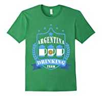 Beer Argentina Drinking Team Casual Argentina Flag T-shirt Forest Green