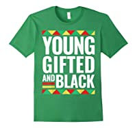 Black History Gifted Shirts Forest Green
