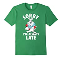 Disney Alice Always Late T Shirt Forest Green