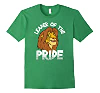 Lion King Adult Simba Leader Of Pride Graphic Shirts Forest Green