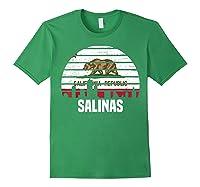 Salinas California T Shirt Ca Group City Silhouette Flag Tee Forest Green