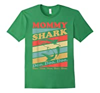 Retro Vintage Mommy Shark Grandma Mather's Day Gifts Shirts Forest Green