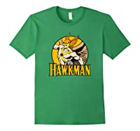 Justice League Hawkman Circle T Shirt Forest Green