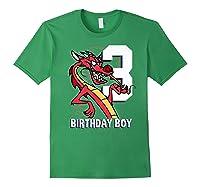 Mulan 3rd Birthday Boy Mushu Portrait Shirts Forest Green