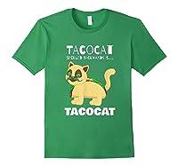 Tacocat Spelled Backwards Taco Cat Tacos Food Shirts Forest Green