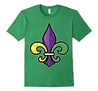 Fleur De Lis Mardi Gras Cute Fat Tuesday Funny Gift Shirts Forest Green