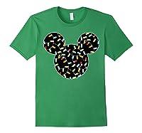 Disney Mickey Christmas Lights T Shirt Forest Green