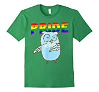 Flossing Owl Lesbian Bisexual Gay Lgbt Pride Gifts Shirts Forest Green