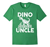 Dino-uncle Dinosaur Family Matching T-shirts Forest Green