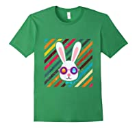 Funny Techno Rabbit Easter Edition Shirt Easter Celebration Forest Green