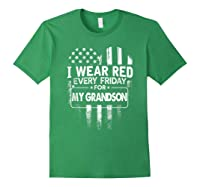 Wear Red Every Friday For My Grandson Military Shirts Forest Green