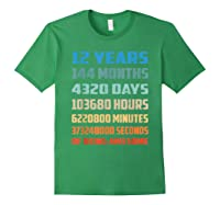 12th Birthday Gift 12 Years Old Being Awesome Shirts Forest Green