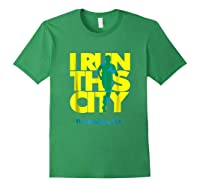 I Run This City Washington D C Apparel For Marathon Runner Shirts Forest Green