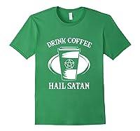 Pentagram Occult Satanic Lucifer Gift Shirts Forest Green