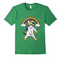 Lgbt Pride Month Unicorn Funny Rainbow Gay & Lesbian Gift Tank Top Shirts Forest Green