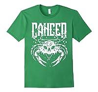 Cancer Hearth Kitchen Witch Shirt Skull Constellation Forest Green