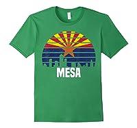 Mesa Arizona T Shirt Az Group City Silhouette Flag Tee Gift Forest Green