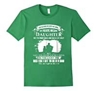 God Blessed Me With An Angel My Freaking Awesome Daughter Shirts Forest Green