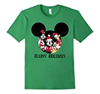 Disney Happy Holidays Group T Shirt Forest Green