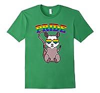 Lgbt Possum Gay Pride Rainbow Lgbtq Cute Gift Opossum Premium T-shirt Forest Green