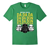 S Darth Vader Imperial March Graphic Shirts Forest Green