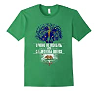 Indiana Home California Roots State Tree Flag Gift Shirts Forest Green