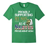 Supporting My Son As He Serves Proud Army Mom Mothers Shirts Forest Green