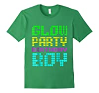 Glow Party Birthday Boy Party Gift Neon Retro Shirts Forest Green